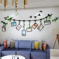 创意亚克力照片墙贴画 3d立体卧室客厅房间温馨自粘墙面相框装饰 创意相框 超