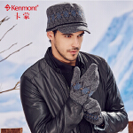 kenmont冬季保暖男士手套秋冬羊毛针织手套户外防寒分指毛线手套2955