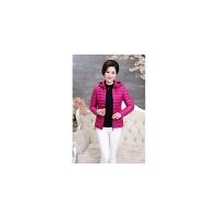 中老年女装妈妈冬装外套40-50-65岁老人轻薄羽绒服奶奶棉衣外套