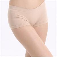 女士内裤无缝无痕平角裤片塑身提臀运动内衣平角裤 均码