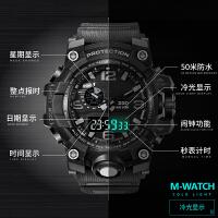 手表男士运动学生战术智能多功能战狼部队军迷表电子表
