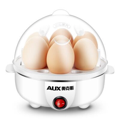 奥克斯AUX-108B多功能不锈钢煮蛋器双层煮蛋机蒸蛋器自动断电迷你早餐机防干烧断电 食品级材质 蒸煮热多功能
