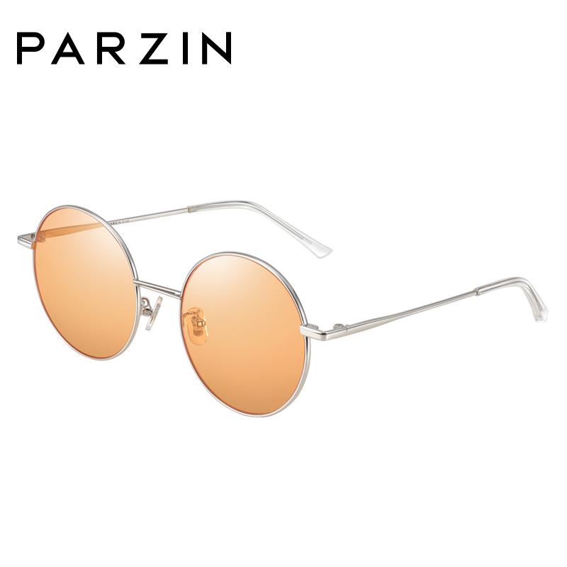 帕森太阳镜女 2018夏季新品 复古圆框尼龙透色墨镜潮司机驾驶镜7720