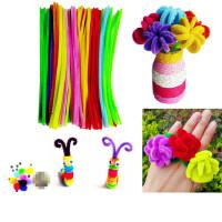 彩色毛条毛根条扭扭棒幼儿园手工制作材料DIY创意儿童玩具