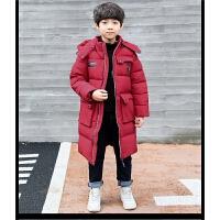 儿童加长款棉袄2017冬季新款加厚男童外套中大童潮流冬装韩版