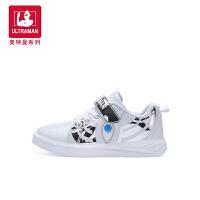 奥特曼儿童小白鞋男童鞋子2018秋季新款板鞋韩版跑步鞋白色运动鞋