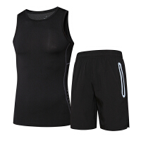 健身背心男士健身服夏季无袖紧身衣跑步服装健身房速干衣运动套装