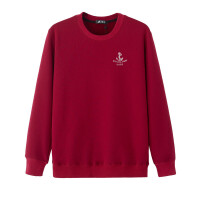 韩观秋冬季保暖长袖T恤 男士加绒加厚卫衣 宽松加大码圆领打底衫