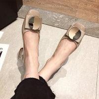 户外时尚女士韩版单鞋复古仙女风平底鞋休闲百搭女鞋