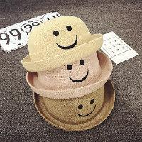 儿童帽子春秋夏天男女童宝宝圆顶礼帽盆帽遮阳帽防晒渔夫帽2-4岁