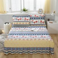 纯棉床裙式床罩单件保护防尘防滑床套床单1.8m米1.5全棉
