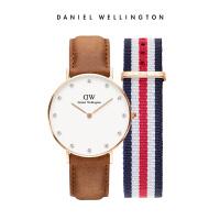 DanielWellington手表DW手表女士皮带手表织纹表带DW礼盒套装