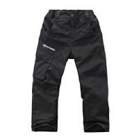 儿童冲锋裤男女可拆卸抓绒两件套防风防水透气户外服装