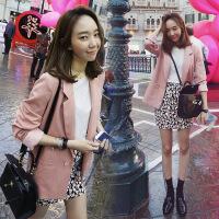 2018韩国百搭宽松薄款休闲小西装女春装外套中长款长袖西服