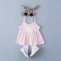 童装女宝宝夏装0-1-2-3岁婴儿吊带衫糖果色上衣夏季背心打底