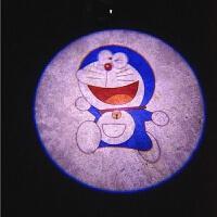 {夏季贱卖}水冰月汽车门迎宾灯车载照地感应开门改装饰美少女战士投影灯通用 293机器猫【2个灯】