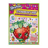 Shopkins Strawberry Kiss 购物精灵玩具周边 草莓甜心贴纸英语活动书 儿童英文原版进口图书