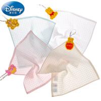 迪士尼Disney中空纱华夫格方巾 纯棉小毛巾 婴儿儿童洗脸毛巾 A类