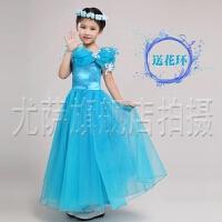 六一走秀演出服  女童礼服灰姑娘同款迪斯尼公主裙花童婚纱儿童生日