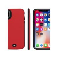 苹果X背夹充电宝X MAX电池6s/8/7plus无线se手机壳20000毫安5s冲 苹果X/XS 中国红 20000