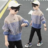 童装男童毛衣秋冬装儿童套头加绒水男孩打底衫