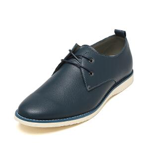 SHOEBOX/鞋柜单鞋时尚低跟男鞋 圆头商务休闲鞋