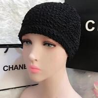 韩国长短发时尚可爱护耳布游泳帽加大不勒头温泉泳帽女