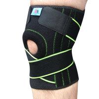 运动护膝户外保暖男女通用骑行跑步登山篮球八字耐磨透气弹簧护具