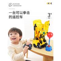 儿童遥控汽车机器人变形玩具金刚摇控四驱充电版电动感应赛车男孩