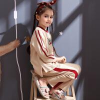 儿童睡衣女童春秋季长袖宝宝全棉家居服套装