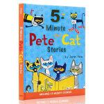 英文原版Pete the Cat: 5-Minute Pete the Cat Stories皮特猫12个故事合集英文原版