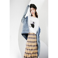 复古温柔风套装裙女2018新款夏装港风韩版春季省心搭配时尚两件套
