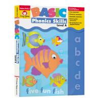【首页抢券300-100】Evan-Moor Basic Phonics Skills Level A 基础练习 自然拼