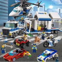 兼容乐高城市系列消防警察局军事拼装积木男孩子益智玩具航空母舰