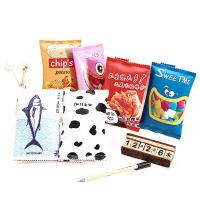 韩国文具笔盒仿真趣味零食文具袋创意学生大容量韩版铅笔袋