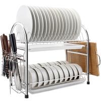 维艾 厨房置物架碗架304不锈钢筷子碗碟沥水架 U型 L24-U 304不锈钢