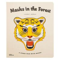 Masks in the Forest森林里的面具 英文原版儿童亲子互动读物