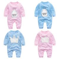 婴儿连体衣服女新生儿宝宝满月冬季3个月2秋装秋冬装秋季5睡衣
