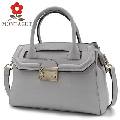 Montagut/梦特娇手提包简约大气女包女性单肩斜跨包包