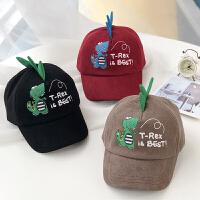 儿童帽子男潮新款春秋男童棒球帽韩女童遮阳卡通宝宝鸭舌帽