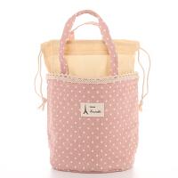 饭盒袋手提袋便当袋小带饭包保温袋圆形大号手提饭盒包便当包防水