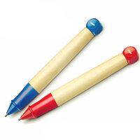 LAMY/凌美ABC系列 儿童活动铅笔 自动铅笔1.4mm红色/蓝色 为学习写字的儿童、学生而设计 铅笔与手配合,粗厚的笔握确保手指握住正确位置,不像一般的铅笔又细又滑,笔杆为枫木制,轻便,长时间书写不易疲劳