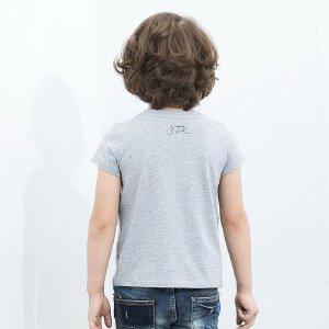 【尾品汇 5折直降】amii童装2017夏装男童短袖T恤棉质儿童t恤衫中大童上衣夏季新款