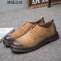 秋季中帮马丁靴男高帮英伦风短靴真皮复古男鞋韩版潮流休闲工装靴