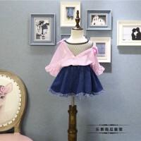 女童上衣2018春装新款韩版中小童洋气时尚假网布长袖衬衫