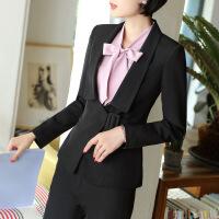 2017新款职业套装女长袖秋冬气质时尚西服正装工作服女士西装套装