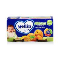 Mellin 美林 宝宝辅食杏子苹果泥 100克/罐 2罐装