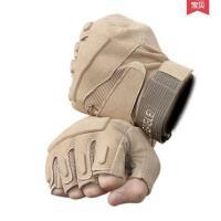 军迷战术半指手套男女 骑行运动健身手套 特种兵格斗作战手套