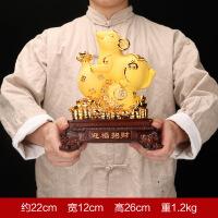 鼠年生肖老鼠摆件沙金树脂工艺品保险公司银行开门红创意礼品定制