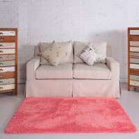 色现代茶几地毯客厅沙发卧室床边床前地毯可定制满铺榻榻米吸尘 果绿 长方形